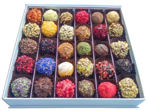 box truffels
